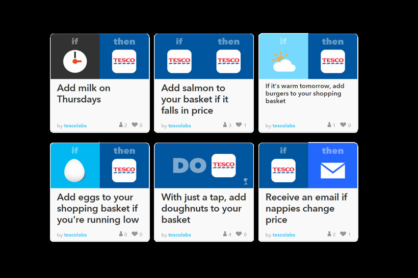 IFTTT: Tesco alla prova dello smart shopping