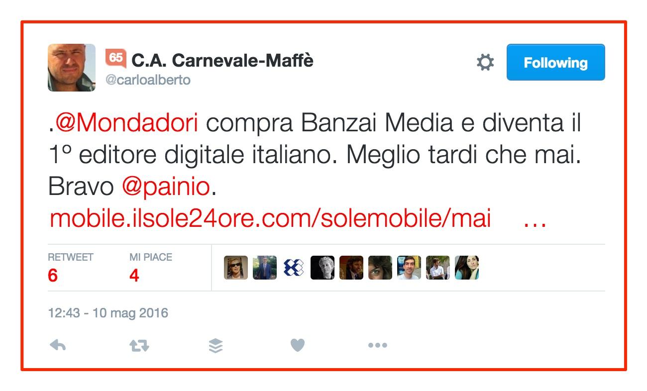 Mondadori acquista Banzai Media: il punto dei mercati e della rete