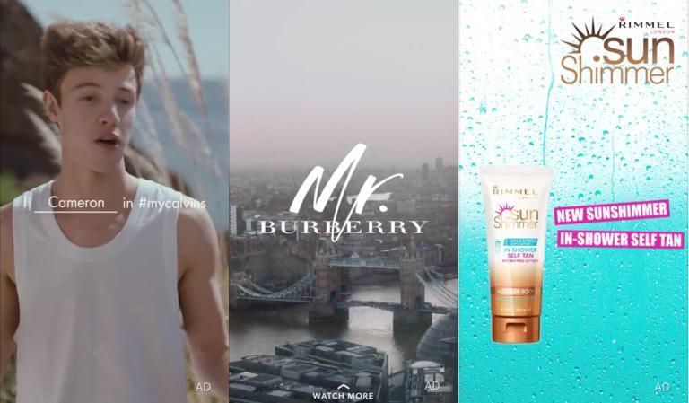 Brand e Ecommerce su Snapchat, le campagne ADV su Snapchat di Calvin Klein, Burberry e Rimmel
