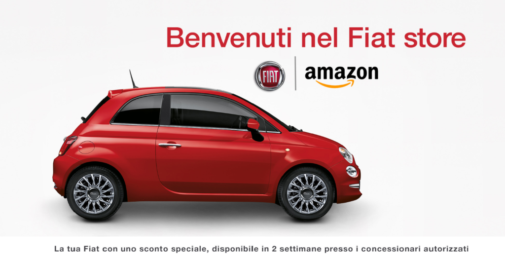 Fiat 500 si compra su Amazon